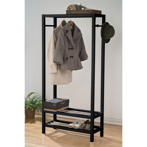 shop maeve wood garment storage rack free shipping today. Black Bedroom Furniture Sets. Home Design Ideas