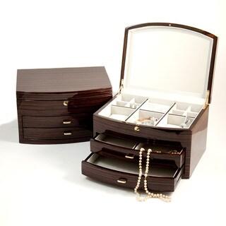 Bey Berk 'Alice' Medium Lacquered Wood Jewelry Box