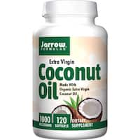 Jarrow Formulas Extra Virgin Certified Organic Coconut Oil (120 Softgels)