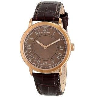 88 Rue du Rhone Unisex 87WA120016 'Double 8 Origin' Swiss Quartz Brown Leather Watch