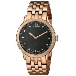 88 Rue du Rhone Women's 87WA120017 'Double 8 Origin' Swiss Quartz Rose Gold Tone Stainless Steel Watch