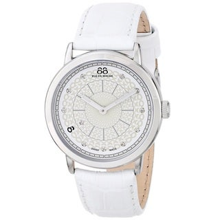 88 Rue du Rhone Women's 87WA120019 'Double 8 Origin' Swiss Quartz White Leather Watch