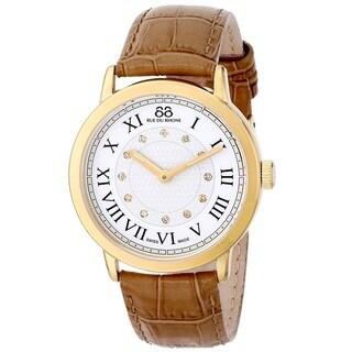 88 Rue du Rhone Women's 87WA120011 'Double 8 Origin' Swiss Quartz Beige Leather Watch