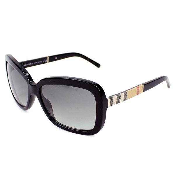 Shop Burberry Womens Be4173 Black Plastic Sunglasses
