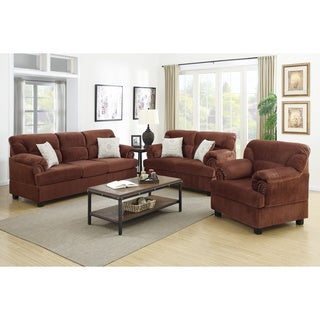Junik 3-piece Living Room Set in Microfiber