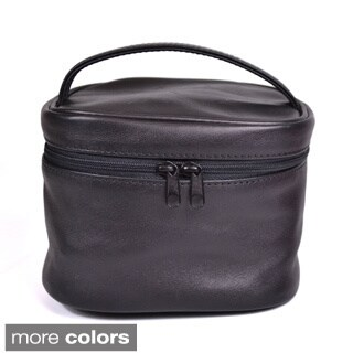 Royce Leather 'Adeline' Travel Cosmetic Bag