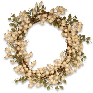 White Berry Vine 24-inch Wreath