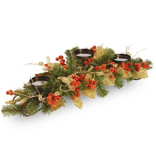 Berry / Leaf Vine 30-inch 3-candle Holder
