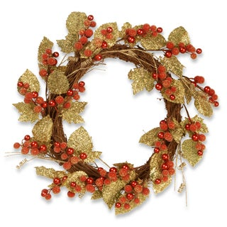 Berry / Leaf Vine 24-inch Wreath