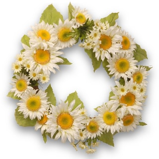 White Sunflower 24-inch Wreath