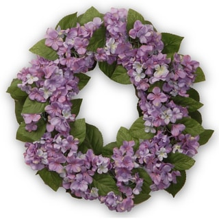 Purple Hydrangea 24-inch Wreath