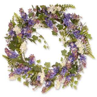Matthiola Purple 30-inch Wreath