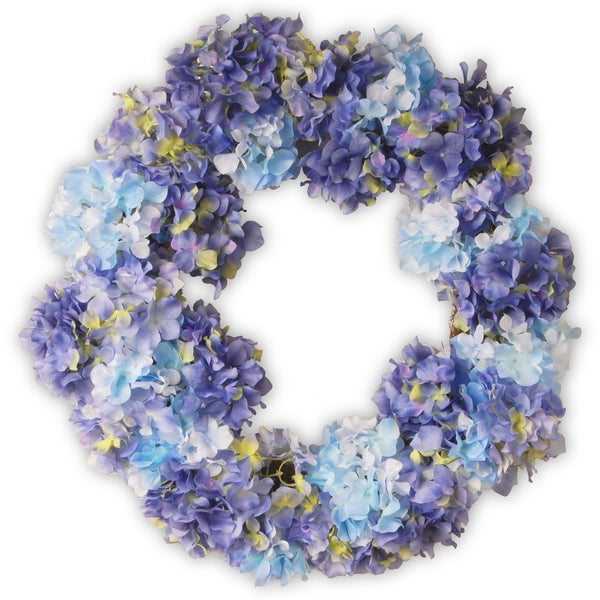 Hydrangea Blue 25-inch Wreath. Opens flyout.