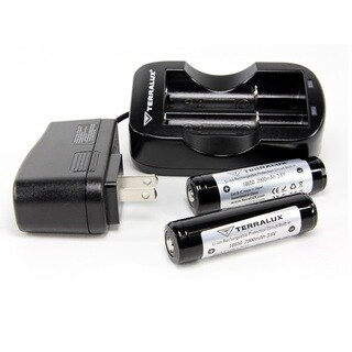 TerraLUX 18650 Batteries and Charger Kit