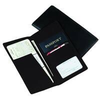 Royce Leather Passport Ticket Holder