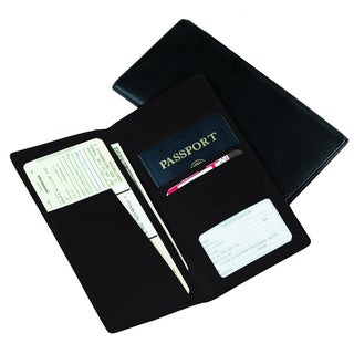 Royce Leather Passport Ticket Holder