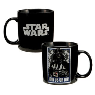 Star Wars Darth Vader 'Join Us Or Die' Black Coffee Mug