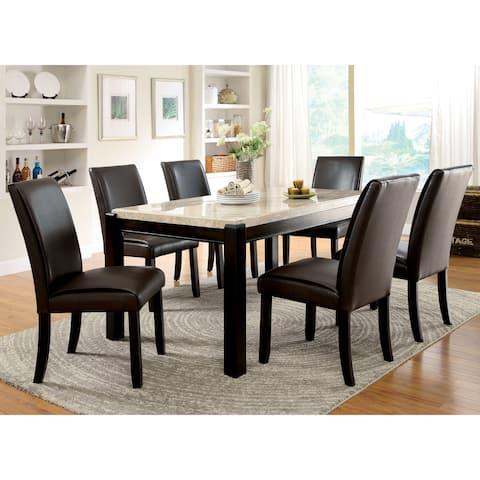Furniture of America Koby Contemporary Walnut 7-piece Dining Set