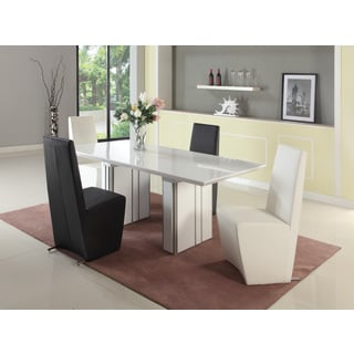 Seasons Gloss White and Grey Extendable Dining Table