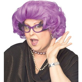Adult's Dame Edna Purple Wig Costume