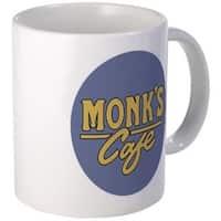 Monk's Cafe White Coffee Mug