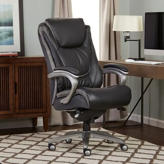 Serta Blissfully Black Big and Tall Smart Layers Executive Office Chair