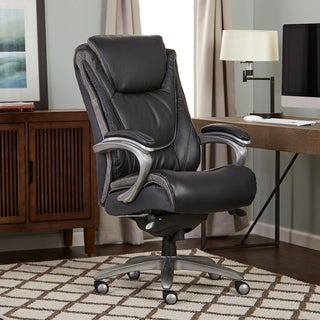 Merveilleux Serta Blissfully Black Big And Tall Smart Layers Executive Office Chair