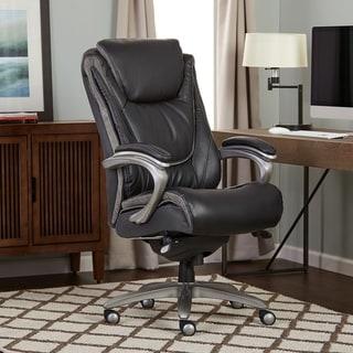 Serta Black Big and Tall Executive Office Chair