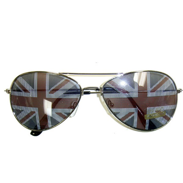 366bbe593b3 Shop British Flag Aviator Sunglasses - Free Shipping On Orders Over  45 -  Overstock - 9991970