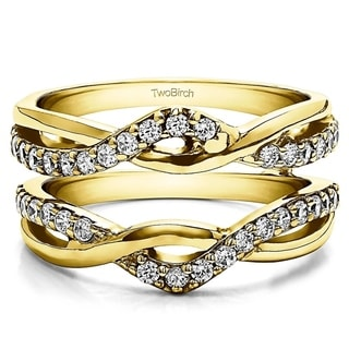 TwoBirch 10k Yellow Gold 1/2ct TDW Diamond Infinity Ring Enhancer (G-H, I2-I3)