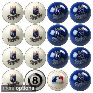 MLB Teams Licensed Baseball Billiard Balls Complete Set of 16 Balls / 52-2116-2133