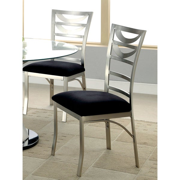 Furniture Of America Sculpture I Contemporary Satin Metal Dining Chair