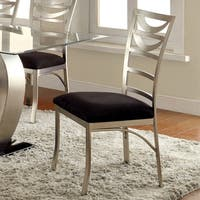 Sculpture I Contemporary Black Dining Chairs (Set of 2) by FOA