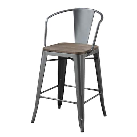 Furniture of America Rish Industrial Counter Height Chairs (Set of 2)