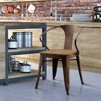 Furniture of America Tripton Industrial Dining Chairs (Set of 2)