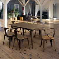 Furniture of America Tripton Industrial 7-Piece Dining Set