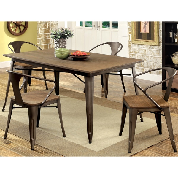 Furniture Of America Tripton Industrial 5 Piece Dining Set