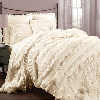 Lush Decor Belle 4-piece Queen Comforter Set in Ivory  (As Is Item)