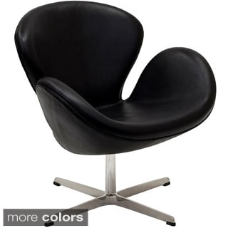 Leather Swan Chair
