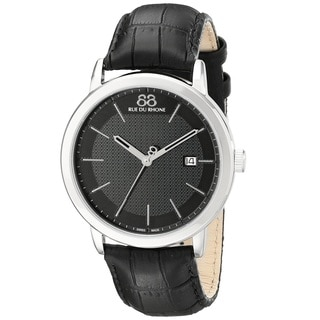 88 Rue du Rhone Men's 87WA130010 'Double 8 Origin' Swiss Quartz Black Leather Watch