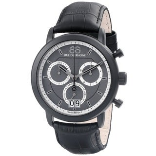 88 Rue du Rhone Men's 87WA130021 'Double 8 Origin' Chronograph Swiss Quartz Black Leather Watch