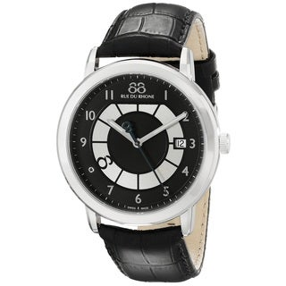 88 Rue du Rhone Men's 87WA130019 'Double 8 Origin' Swiss Quartz Black Leather Watch