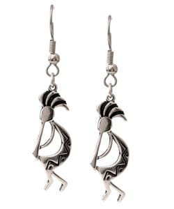 Carolina Glamour Collection Sterling Silver Kokopelli Earrings
