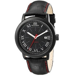 88 Rue du Rhone Men's 87WA120041 'Double 8 Origin' Swiss Automatic Black Leather Watch