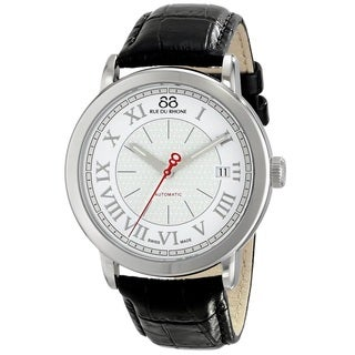 88 Rue du Rhone Men's 87WA120033 'Double 8 Origin' Swiss Automatic Black Leather Watch