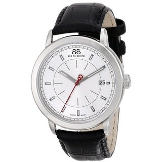 88 Rue du Rhone Men's 87WA120027 'Double 8 Origin' Swiss Quartz Black Leather Watch