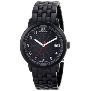 88 Rue du Rhone Unisex 87WA120025 'Double 8 Origin' Swiss Quartz Black Stainless Steel Watch