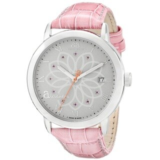 88 Rue du Rhone Women's 87WA140019 'Double 8 Origin' Swiss Quartz Pink Leather Watch