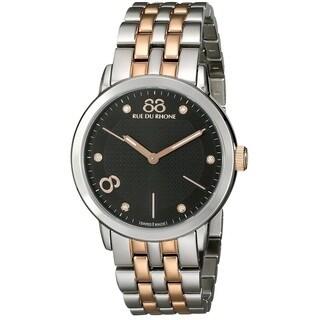 88 Rue du Rhone Women's 87WA140003 'Double 8 Origin' Swiss Quartz Two Tone Stainless Steel Watch
