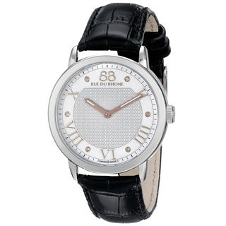 88 Rue du Rhone Women's 87WA130037 'Double 8 Origin' Swiss Quartz Black Leather Watch